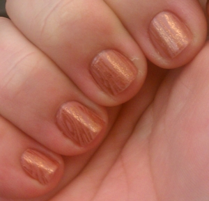 Creamy Stamped Manicure