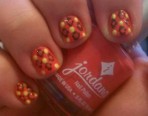 My 60s Print Manicure - another view
