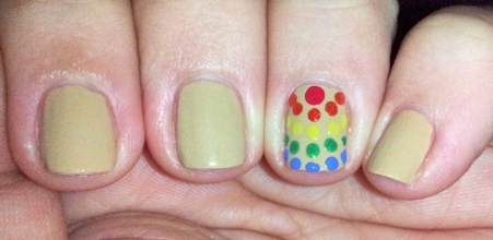 Full Mani with rainbow accent