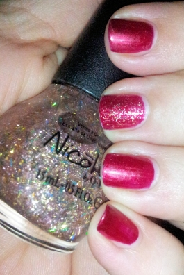 Torrid with Nicole by OPI A Gold Winter's Night accent nail