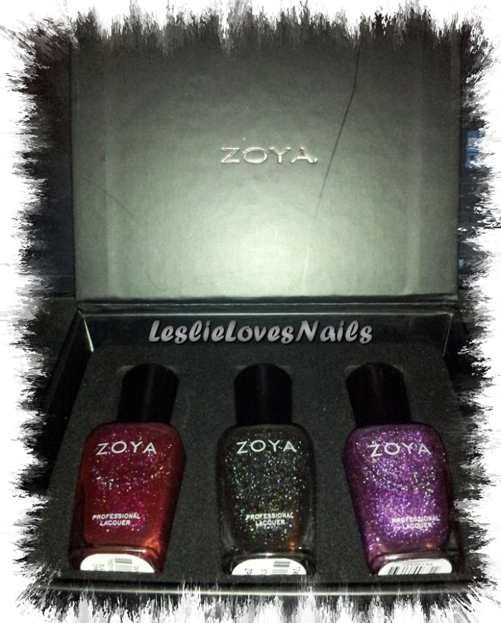 Zoya Holo-day Dream Box Contains Blaze, Storm and Aurora from the Ornate Collection