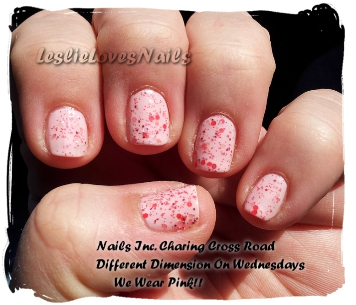 Nails Inc Charing Cross Rd and Different Dimension On Wednesdays We Wear Pink!