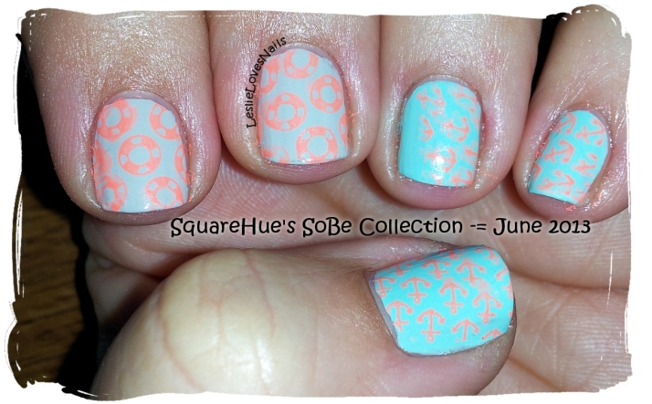 SoBe Nautically Cheeky  Mani