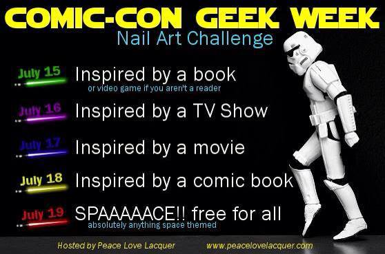 Comic-Con Geek Week Nail Art Challenge
