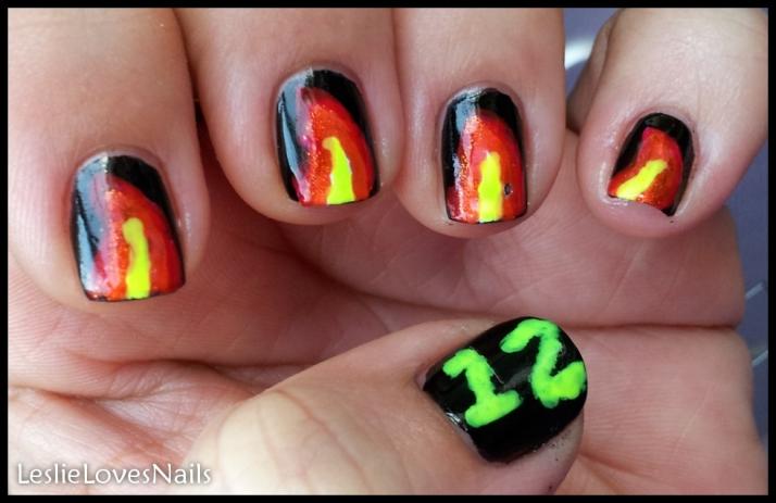Comic-Con Geek Week Nail Art Day1- Hunger Games