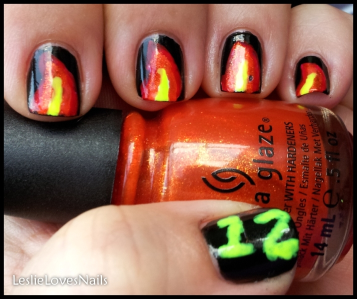 Comic-Con Geek Week Nail Art Day1- Hunger Games
