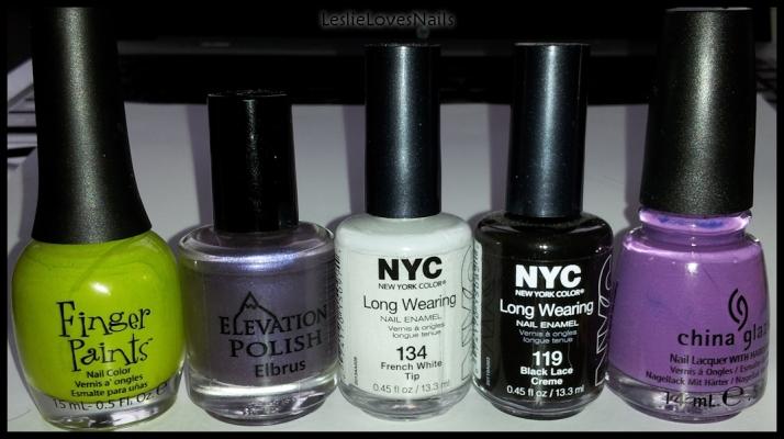 Monster's Inc. Manicure Colors LeslieLovesNails