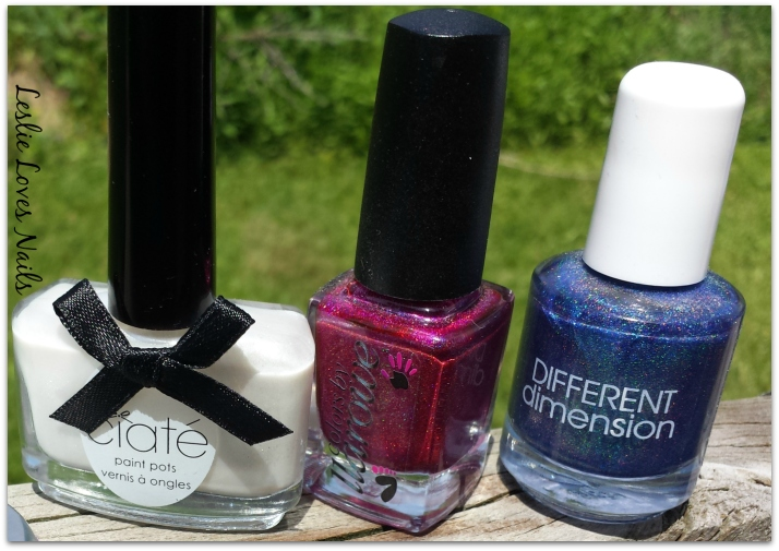 Memorial Day Mani colors: Ciate Angel Wings, Different dimension The Lovers, The Dreamers and Me, Colors by Llarowe, Courage, Brains, Heart