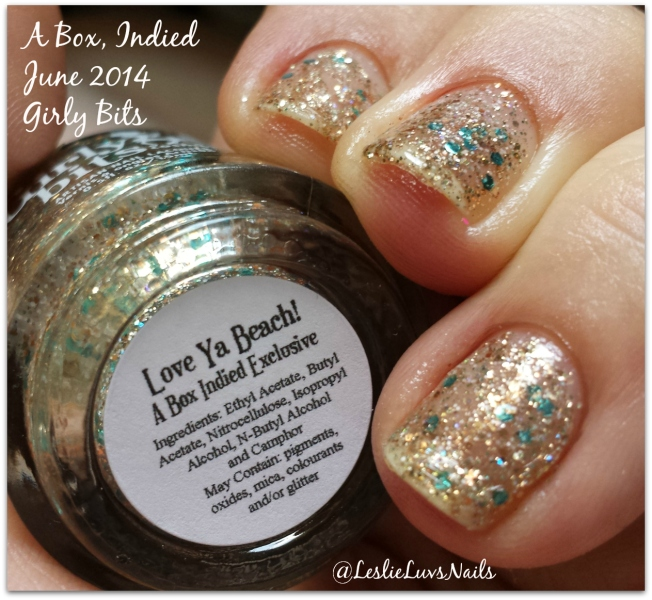Girly Bits Love Ya Beach! from A Box, Indied June 2014