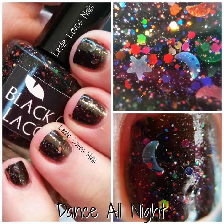 Dance All Night Collage - Black Cat Lacquer