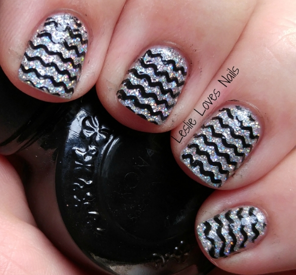 Different Dimension - Big Bang - Stamped with Pet'la plate and Konad black